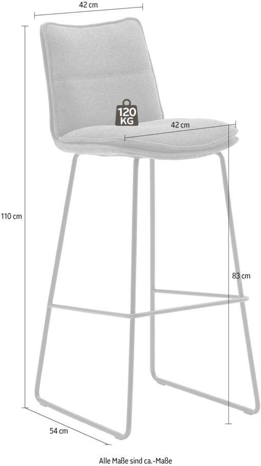 Nowoczesne stołki barowe, wygląd szenilu - 2 sztuki