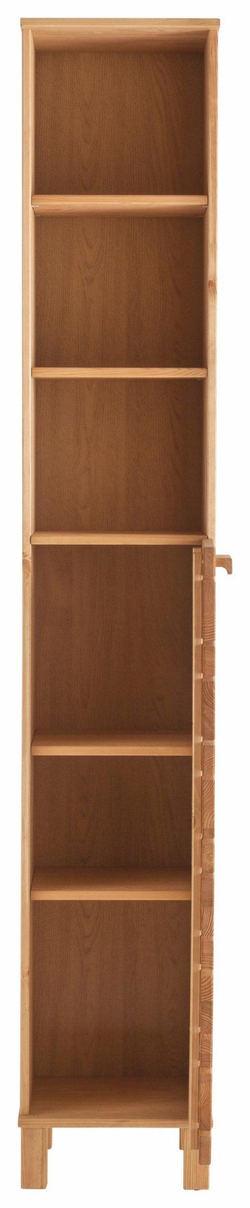 Wysoka szafka łazienkowa, sosnowa olejowana