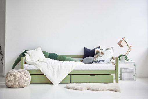 Zestaw dwóch zielonych szuflad np. pod łóżko dziecięce