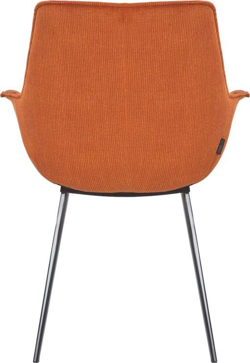 Krzesła z podłokietnikami i metalowymi nogami , terracotta