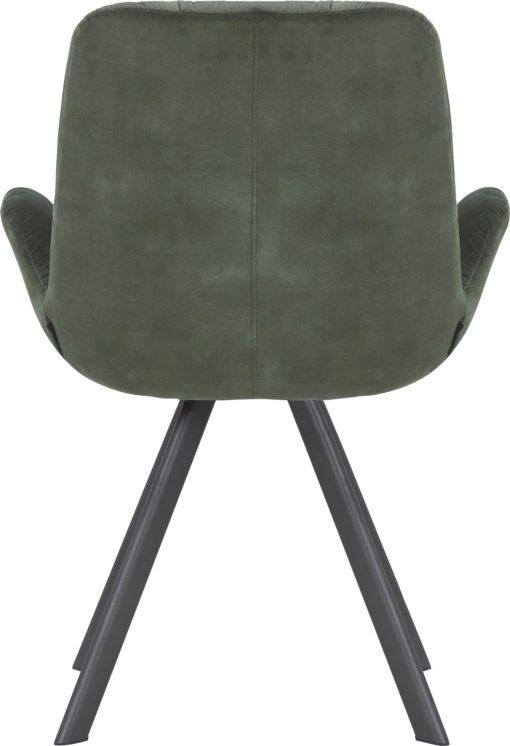 Zielone krzesła na metalowej ramie, nowoczesne - 2 sztuki