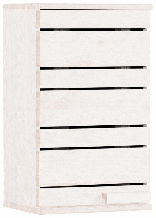 Sosnowa, wisząca szafka do łazienki - biała