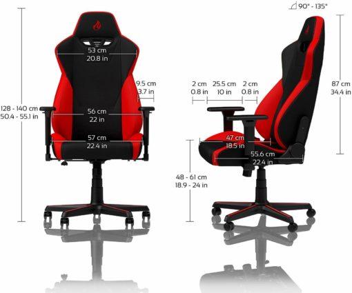 Fotel gracza Nitro Concepts, czarno-czerwony
