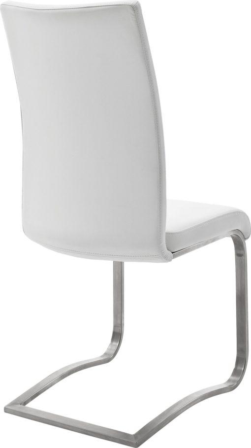 Stylowe krzesła z metalową podstawą - 2 sztuki, białe