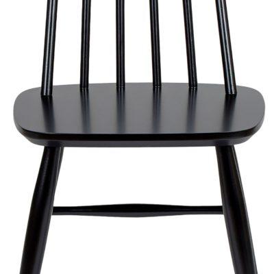 Czarne krzesła z brzozy Woodman, styl skandynawski