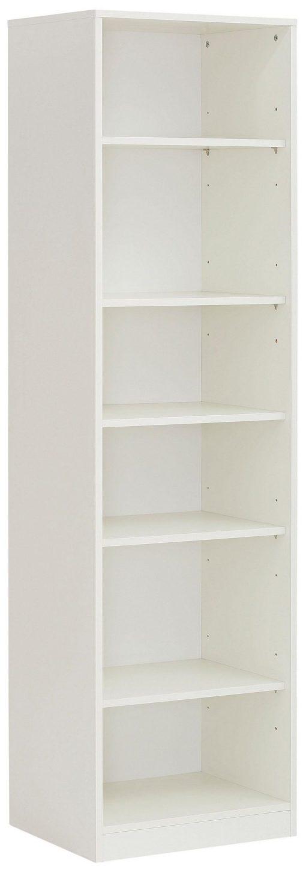 Biały klasyczny regał 5 półek, 179,5 cm wysokości