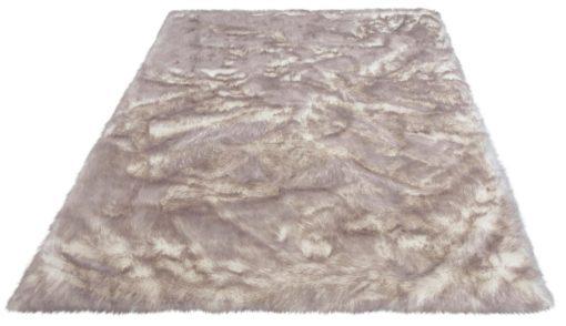 Miękki futrzany dywan 80x150 cm w odcieniach szarości
