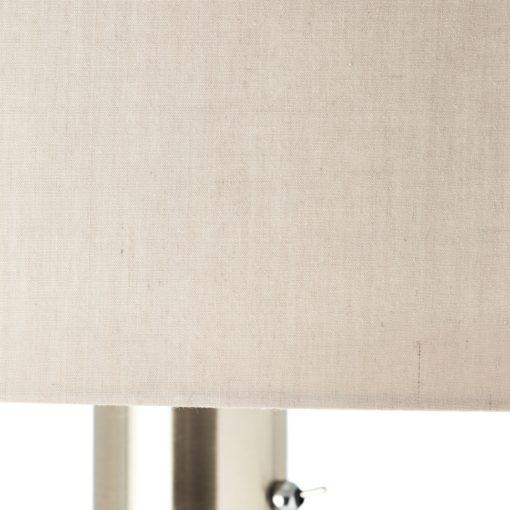 Stojąca lampa podłogowa z dioda do czytania, beż