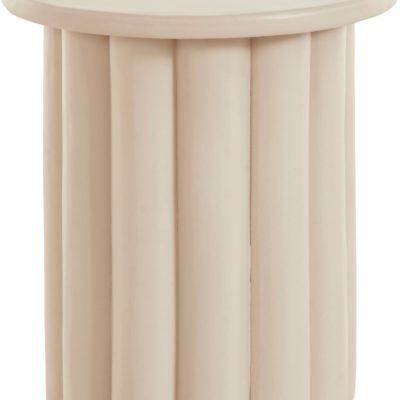 Betonowy stolik kremowy, nowoczesna forma