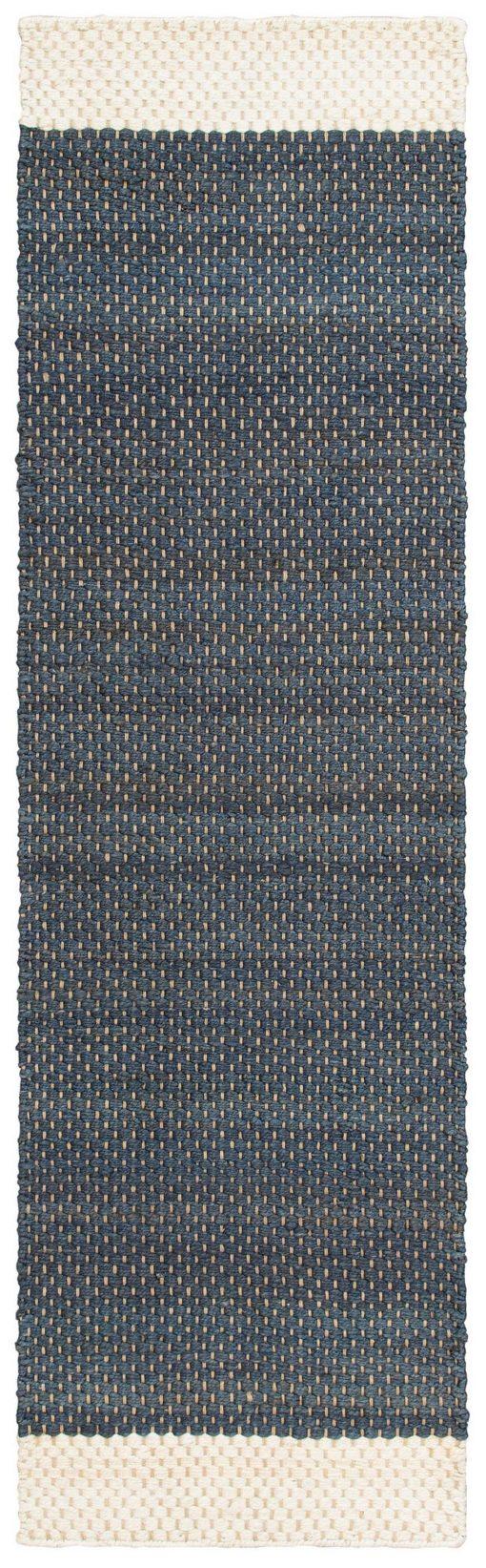 Chodnik z juty 70x190 cm  w odcieniach niebieskiego