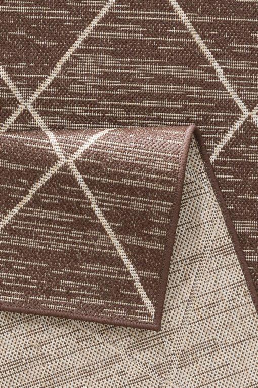Chodnik w romby 90x250 cm w odcieniach brązu