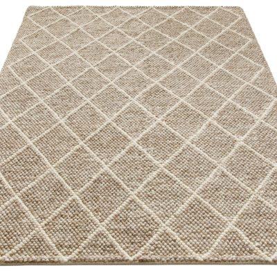 Ręcznie tkany dywan z wełny 120x180 cm, brązowy