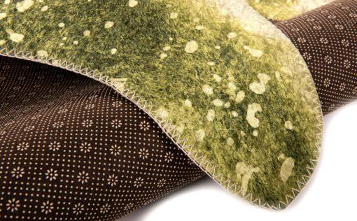 Dywan ze sztucznego futra z nadrukiem, odcienie zieleni