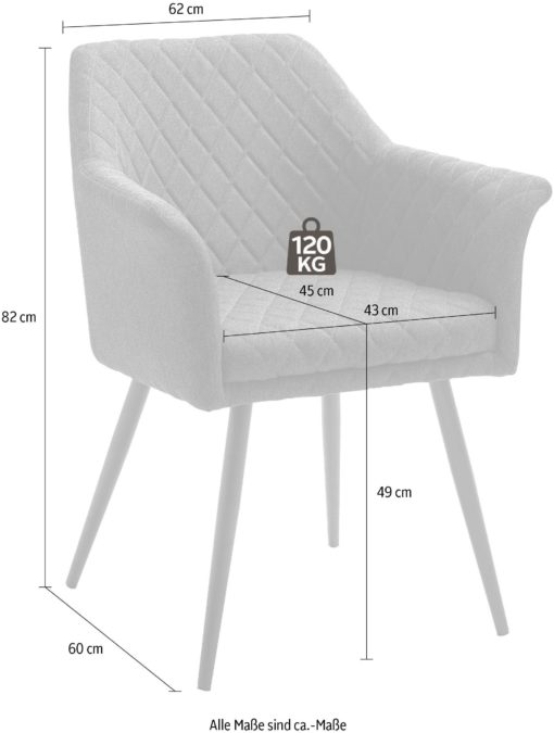 Dwa brązowe fotele nowoczesne, z przeszyciami