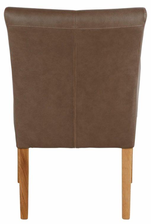Wygodny, zgrabny fotel, brązowy, sztuczna skóra