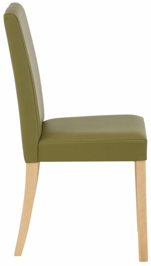Gustowne krzesła w odcieniach zieleni - 2 sztuki