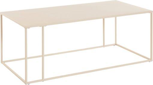 Metalowy stolik w kolorze kremowym, styl nowoczesny