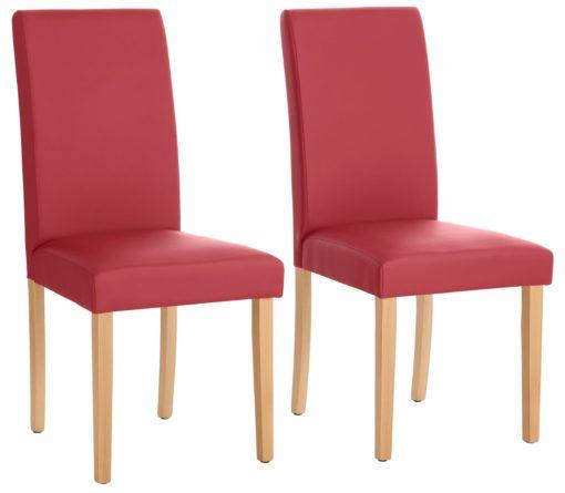 Krzesła we współczesnym stylu, czerwone - 4 sztuki