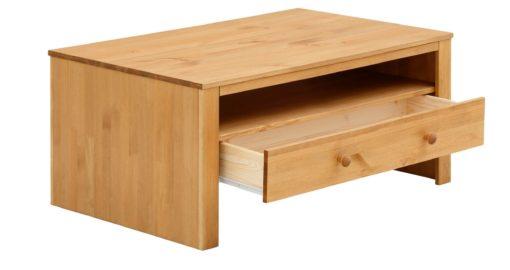 Sosnowa ława z szufladą, rustykalna, olejowana, 80cm