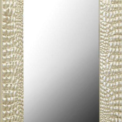 Lustro z imponującą ramą w kolorach srebra i złota