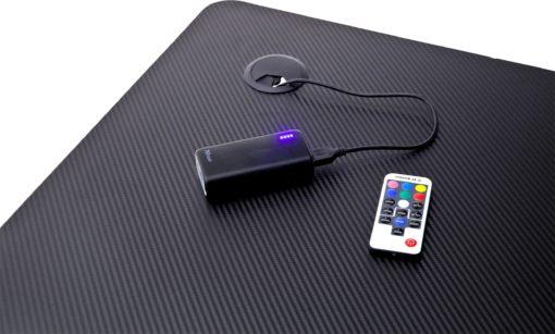 Biurko gamingowe z Led i USB, czarne