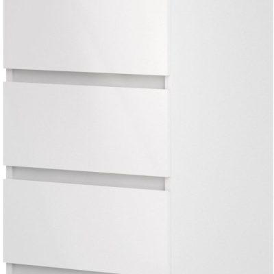 Biała komoda Naia z pięcioma szufladami