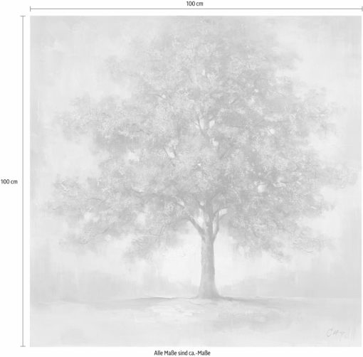 Ręcznie malowany obraz 100x100 cm, bez ramy