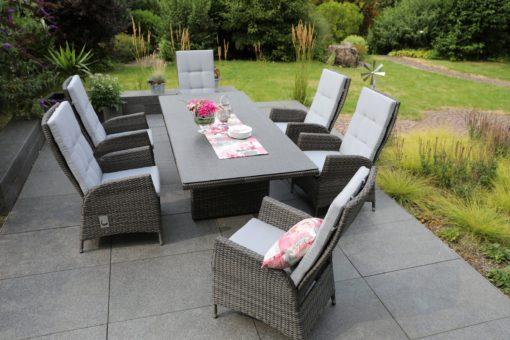 Szare poduszki na meble ogrodowe 50x120 cm