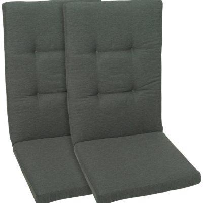 Antracytowe poduszki na meble ogrodowe 50x120 cm