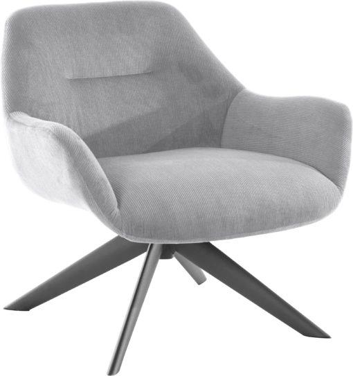 Ponadczasowy fotel w kolorze szarym , styl retro