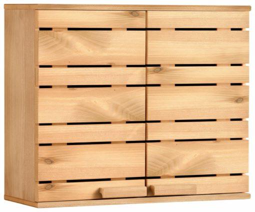 Sosnowa dwudrzwiowa szafka wisząca z półką