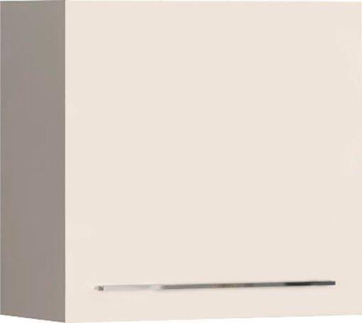 Beżowa szafka wisząca w połysku, do pokoju lub kuchni