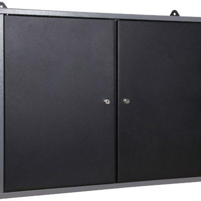 Metalowa szafka z perforowaną ścianą do zawieszania narzędzi
