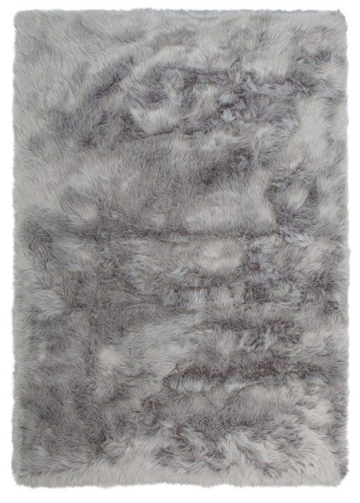 Bardzo miękki futrzany dywan 60x90cm, szary