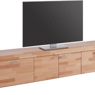 Szafka pod telewizor z bukowym frontem, 205 cm