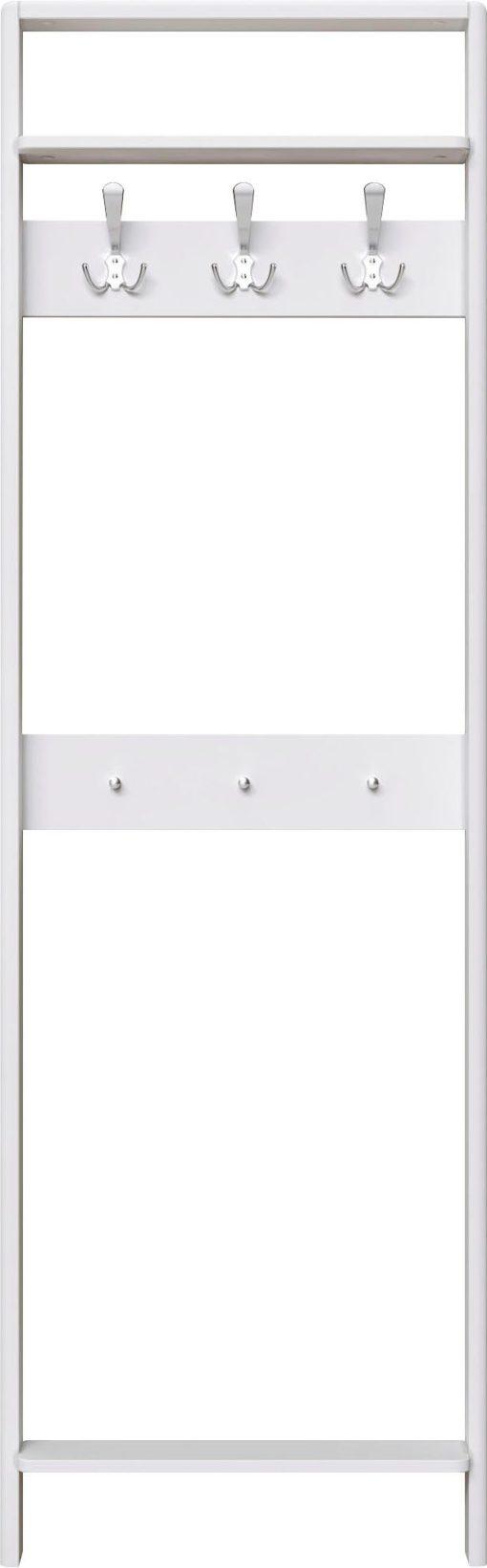 Biały woskowany wieszak na ścianę, sosnowy