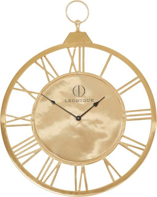 Złoty metalowy zegar ze stali nierdzewnej, 58 cm