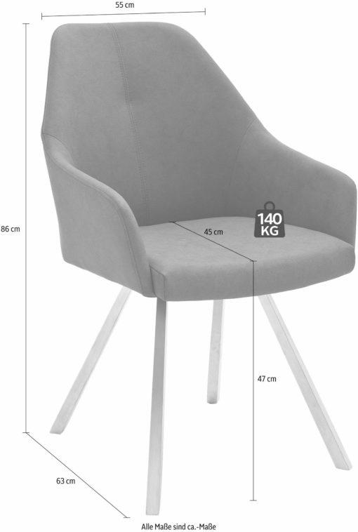 Nowoczesne krzesła ze sztucznej skóry na metalowych nogach - 2 sztuki