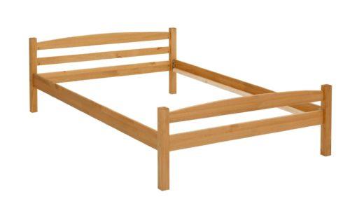 Sosnowa rama łóżka 140x200 cm, naturalna, olejowana