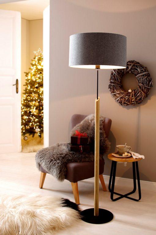 Lampa podłogowa szara w stylu skandynawskim