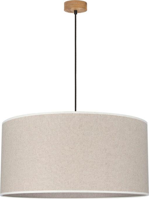 Lampa sufitowa wisząca z bezowym kloszem 50 cm średnicy