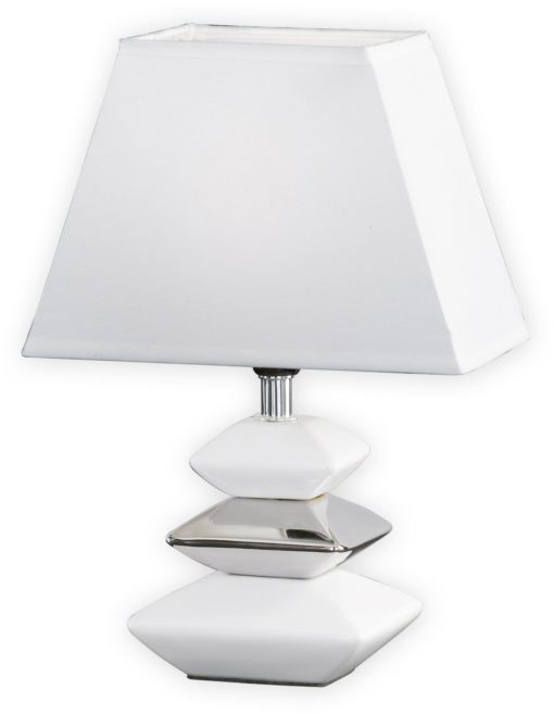 Elegancka lampa stołowa biała