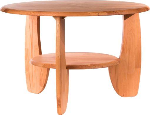 Okrągły stolik kawowy bukowy, drewniany, olejowany