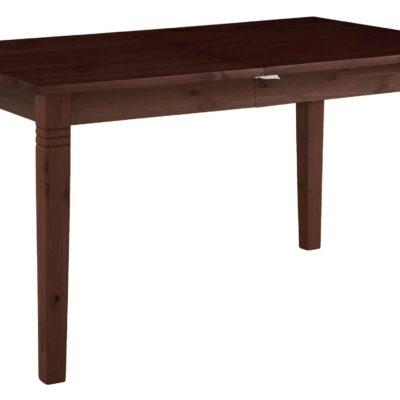 Rozkładany ciemny stół 140x90 cm, z drewna sosnowego