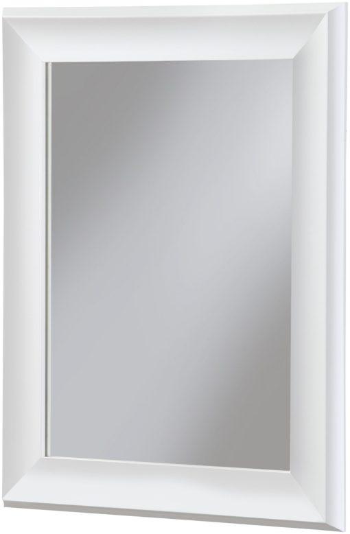 Proste lustro łazienkowe w białej ramie 40x50 cm