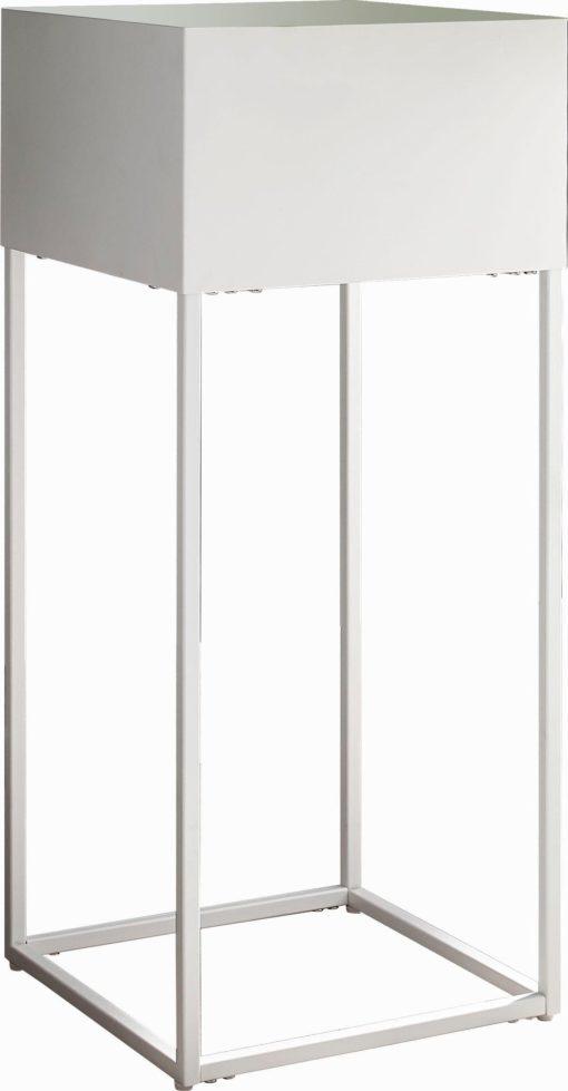Metalowa biała donica w stylu skandynawskim