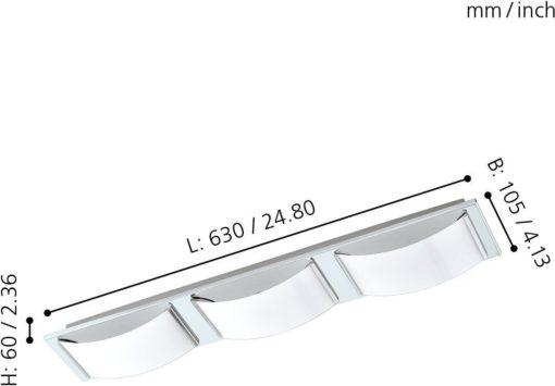 Nowoczesne oświetlenie łazienkowe led EGLO