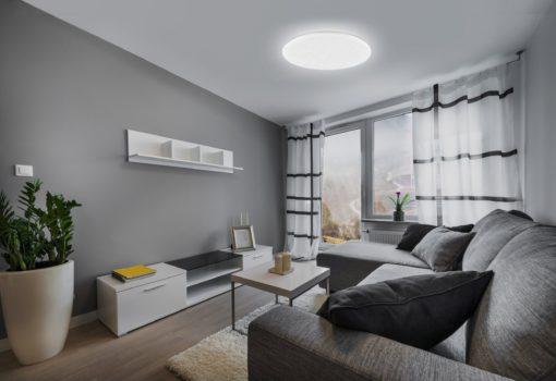 Nowoczesna lampa sufitowa LED z efektem rozgwieżdżonego nieba