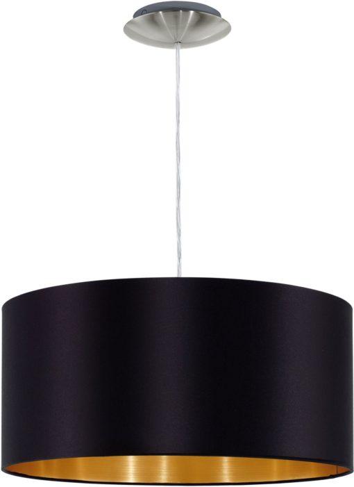 Lampa wisząca EGLO czarno złoty, okrągły  klosz