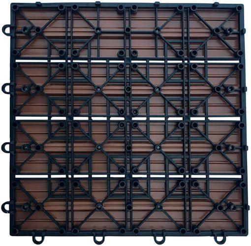 Antracytowe flizy z kompozytu na taras lub balkon
